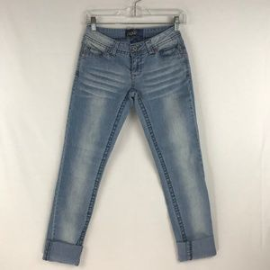 Angels Flap Pocket Cuffed Ankle Length Jeans